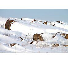 Snowed Rocks, Churchill, Canada Photographic Print
