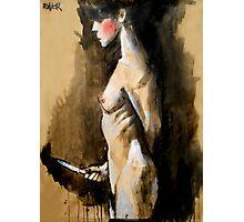 the knife (after Jan Saudek) Photographic Print