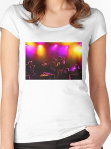 Jazz Trio - Musical Capriccio in Purple and Yellow Women's Fitted Scoop T-Shirt