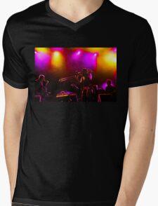 Jazz Trio - Musical Capriccio in Purple and Yellow Mens V-Neck T-Shirt