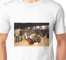 Inside Bonhams London to Brighton Run sale of Veteran Motor cars which takes place ahead of this weekends famous car run Unisex T-Shirt
