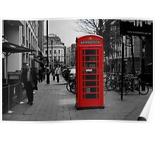 Red London Phone Box Poster