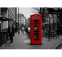 Red London Phone Box Photographic Print