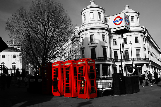 London Phone Boxes by DuncanPenfold