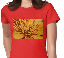 Sparkling, Intricate Golds and Yellows - a Floral Ceramic Tile Mosaic Womens Fitted T-Shirt