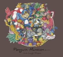 Penguin Mansion - Circle of Characters One Piece - Short Sleeve