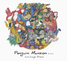 Penguin Mansion - Circle of Characters Baby Tee