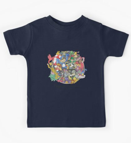 Penguin Mansion - Circle of Characters Kids Tee