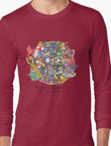 Penguin Mansion - Circle of Characters Long Sleeve T-Shirt