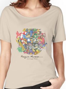 Penguin Mansion - Circle of Characters Women's Relaxed Fit T-Shirt
