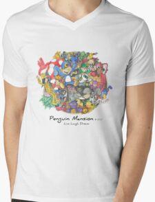 Penguin Mansion - Circle of Characters Mens V-Neck T-Shirt