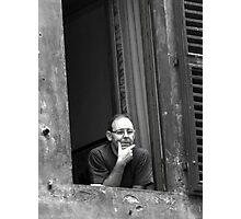 Man Gazing, Siena Italy Photographic Print