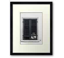 Shutters, Siena Italy Framed Print