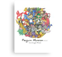 Penguin Mansion - Circle of Characters Canvas Print