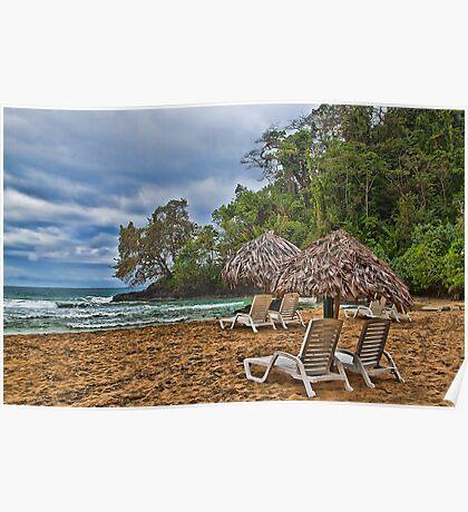 Panama. Bocas del Toro. Red Frog Beach. Poster