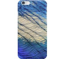 Moon Reflection on Wavy Water iPhone Case/Skin