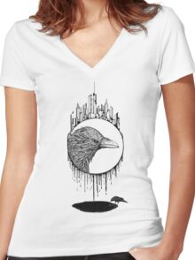 Scavenger (Clothing and Stickers) Women's Fitted V-Neck T-Shirt