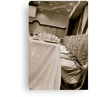 Head Table Canvas Print