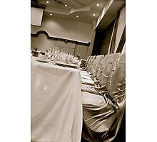 Head Table Photographic Print