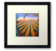 Citrus Sunrise Over Orange County Framed Print