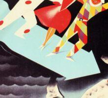 Vintage Viareggio carnival Italian travel ad  Sticker