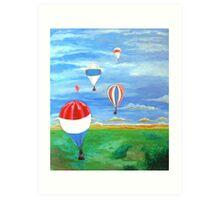 Balloon Races Over Fountain Valley Art Print