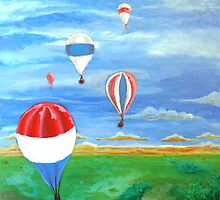 Balloon Races Over Fountain Valley by Christopher Perkins