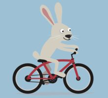 Bunny riding bike Kids Clothes