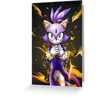 Blaze the Cat: Fire Within Me Greeting Card