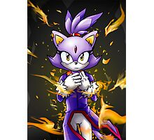 Blaze the Cat: Fire Within Me Photographic Print