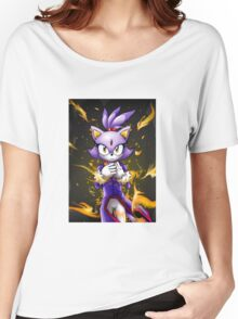 Blaze the Cat: Fire Within Me Women's Relaxed Fit T-Shirt