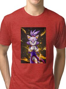 Blaze the Cat: Fire Within Me Tri-blend T-Shirt
