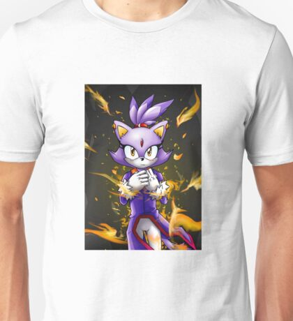 Blaze the Cat: Fire Within Me Unisex T-Shirt