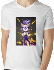 Blaze the Cat: Fire Within Me Mens V-Neck T-Shirt