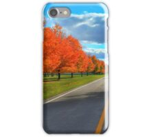 RED TREE ROAD iPhone Case/Skin
