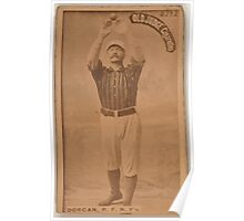 Benjamin K Edwards Collection Mike Dorgan New York Giants baseball card portrait 003 Poster