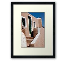 White Trimmed Brownstone Framed Print