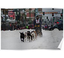 Sledding Downtown Poster
