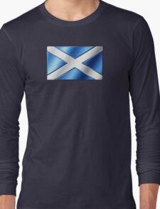 Scottish Flag - Scotland - Metallic Long Sleeve T-Shirt