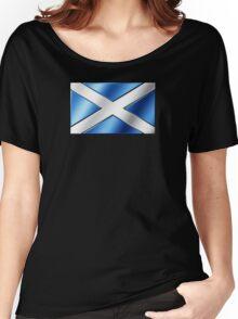Scottish Flag - Scotland - Metallic Women's Relaxed Fit T-Shirt