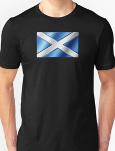 Scottish Flag - Scotland - Metallic Unisex T-Shirt