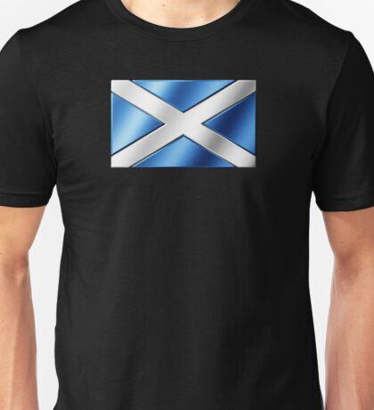 Scottish Flag - Scotland - Metallic Unisex T-Shirt
