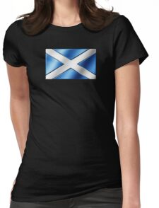Scottish Flag - Scotland - Metallic Womens Fitted T-Shirt