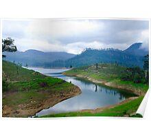 Maskeliya lake Sri Lanka Poster