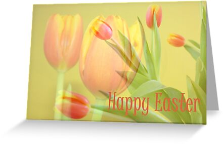 Tulip Time Easter Card by AuntDot