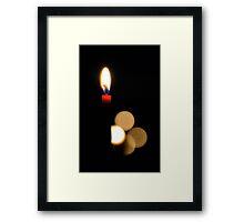 Floating Flame Framed Print