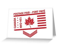 Postage Paid Canada Greeting Card