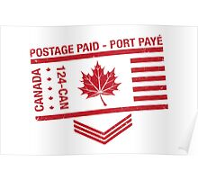 Postage Paid Canada Poster