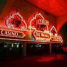 The Red Neon Glow of the Trump Taj Mahal by Jane Neill-Hancock