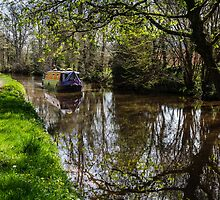 Canal Barge and Reflections by Heidi Stewart